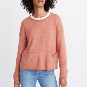 NWT Madewell Chelsea Pocket Pullover Sweater M